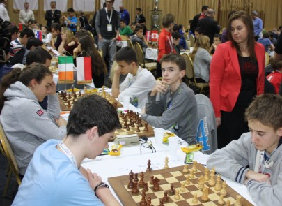 Ireland u16's play Poland, Judith Polgar observes games